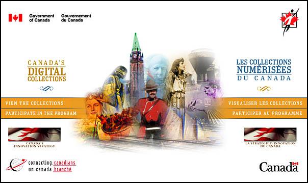Page d'accueil des Collections numérisées du Canada