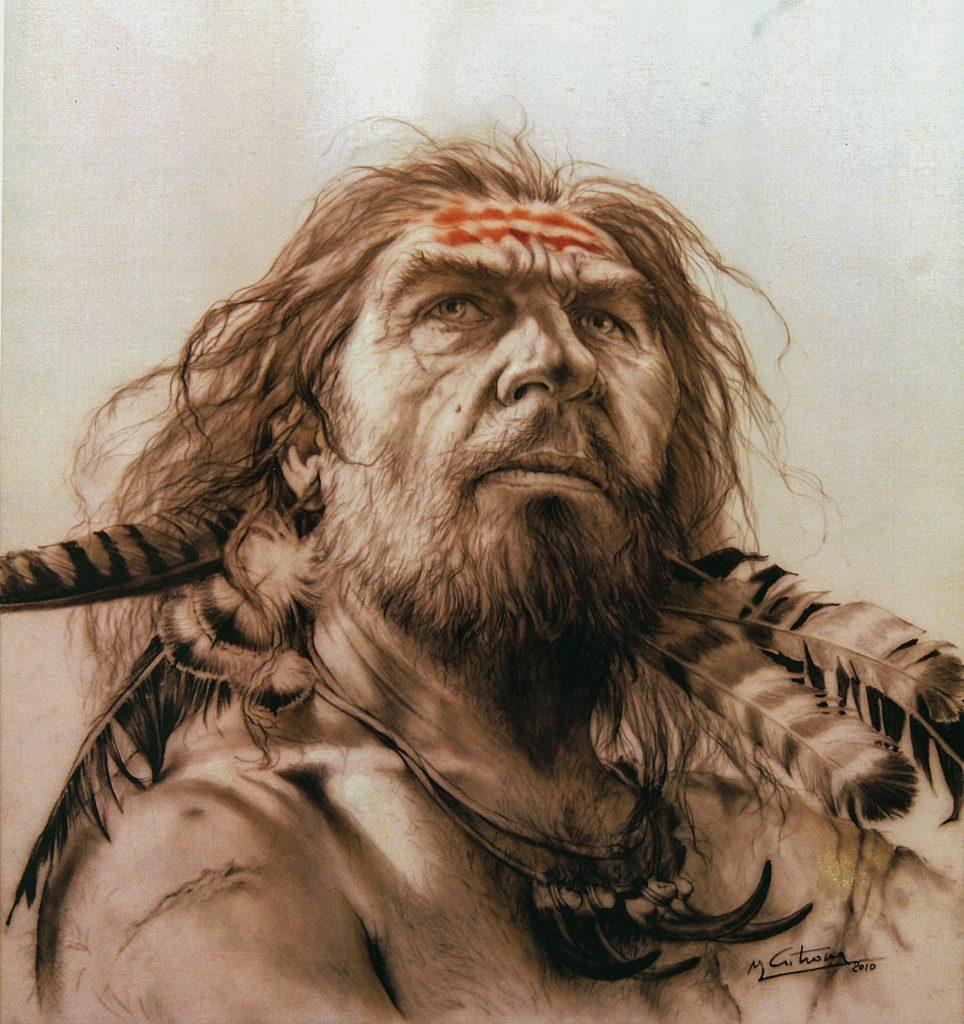Illustration d'un homme de Néandertal