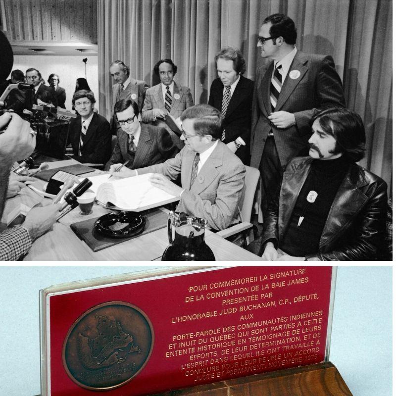 Signature de la Convention de la Baie James