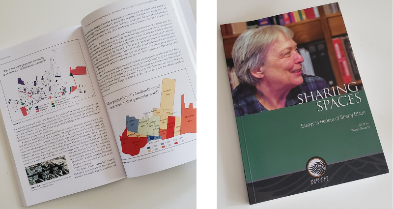 Pages et couverture du livre Sharing Spaces: Essays in Honour of Sherry Olson