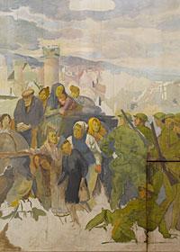 Les Canadiens face à Lens d'Augustus John