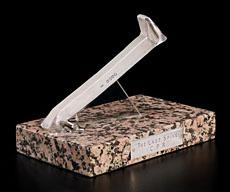 Le dernier crampon cérémoniel, en argent monté sur support de granit