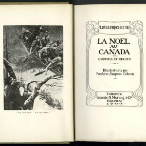 Page titre de l'ouvrage La Noël au Canada, de Louis-Honoré Fréchette. Musée canadien de l'histoire, IMG2015-0117-0014-Dm
