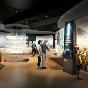 Image conceptuelle illustrant une section de la Salle de l'histoire canadienne. IMG2014-0106-0008-Dm