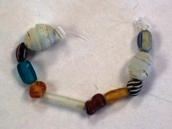 Perles de verre d'origine européenne