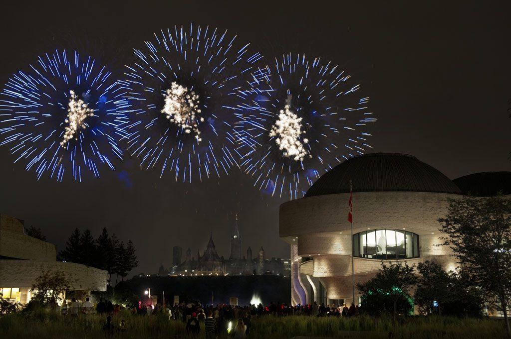 Les grands feux du Casino du Lac-Leamy, en août 2015. Musée canadien de l'histoire, IMG2015-0282-0007-Dm