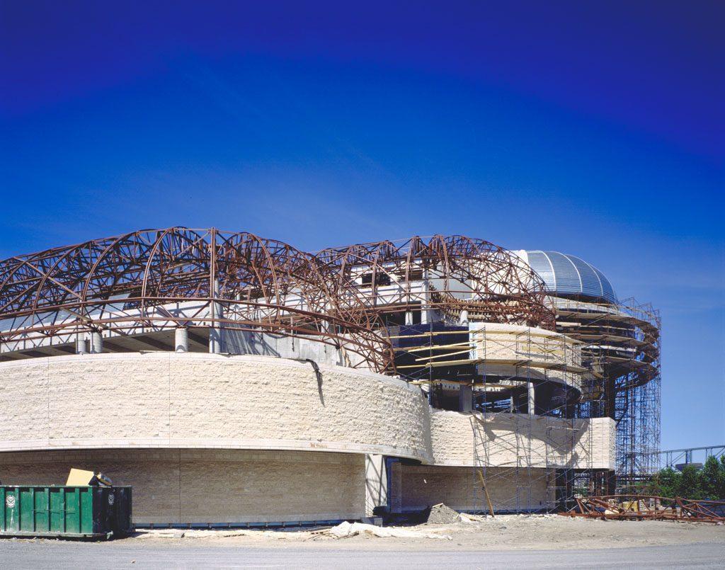 Construction du Musée canadien des civilisations, en 1987. Musée canadien de l'histoire, S87-1114