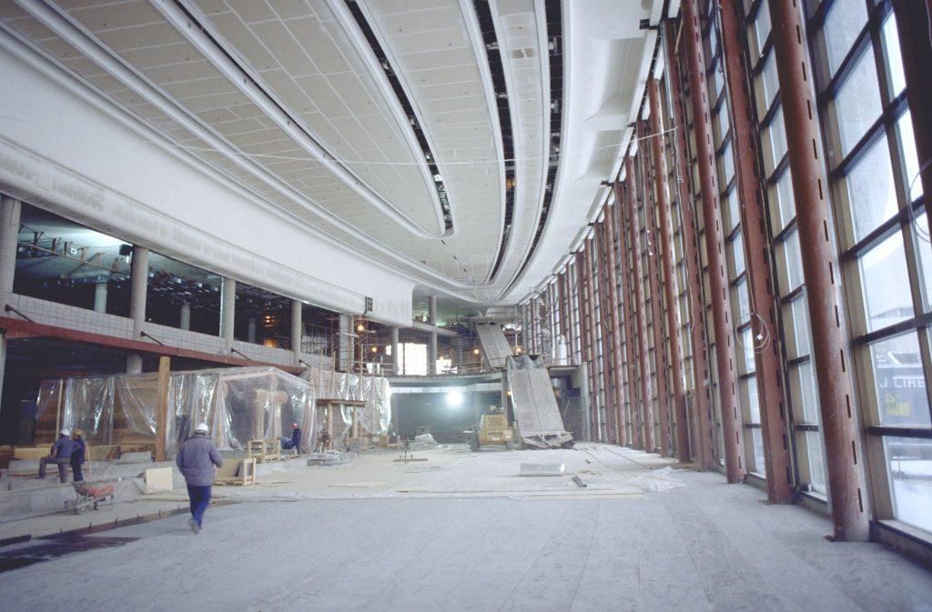 Construction du Musée canadien des civilisations, en 1987. Musée canadien de l'histoire, S82-8328