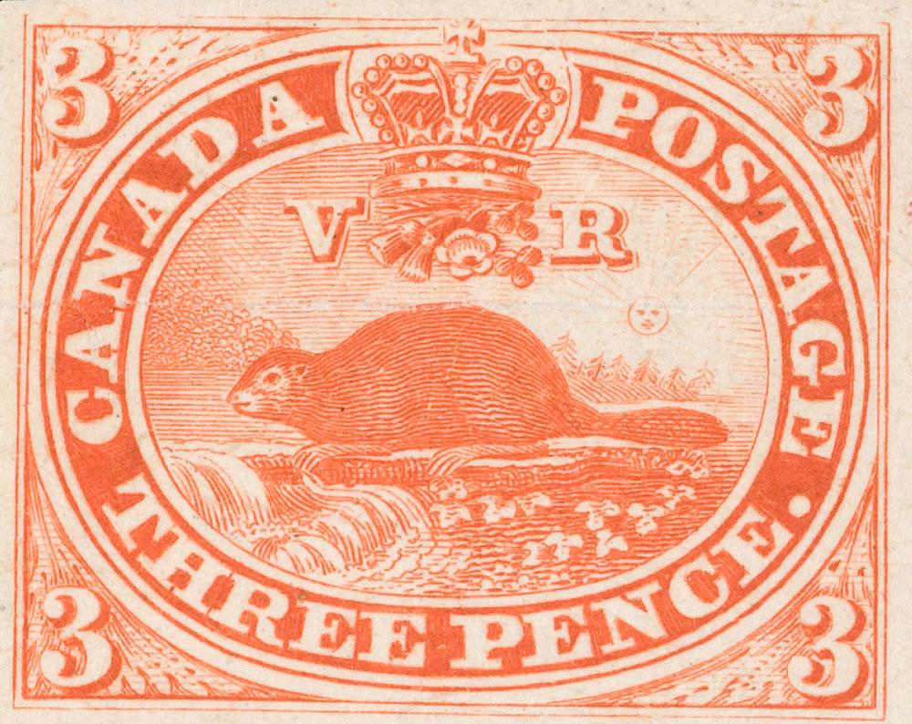 Le premier timbre-poste canadien
