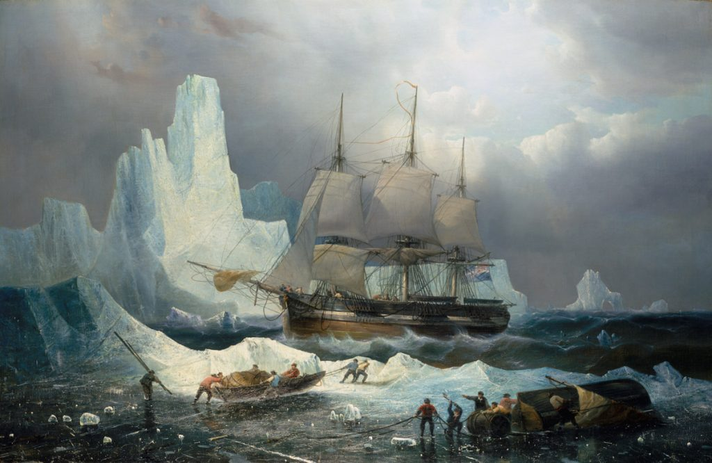 Le HMS Erebus prisonnier des glaces, 1846, François Étienne Musin. © National Maritime Museum, Greenwich, London, collection Caird, BHC3325