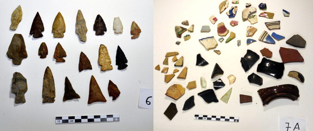 Artefacts apportés par le public