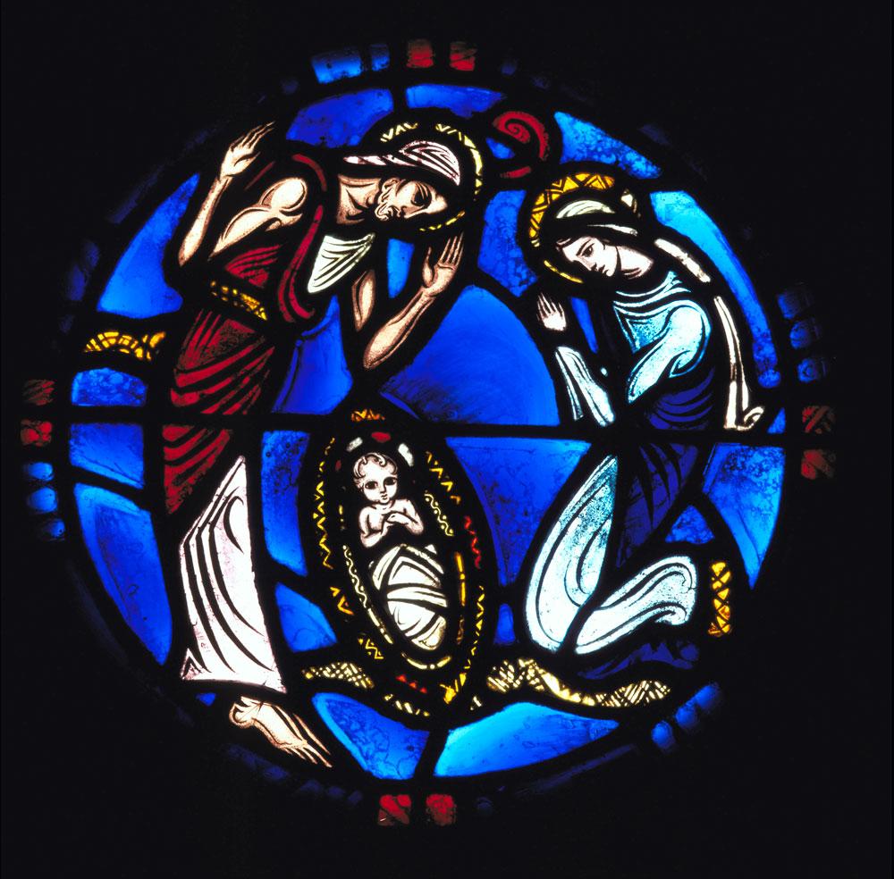 Vitrail représentant la Nativité
