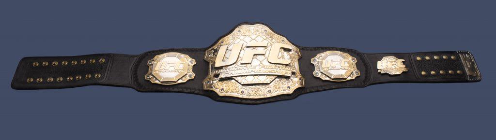 Ceinture titre du championnat UFC 94 gagnée par Georges St-Pierre