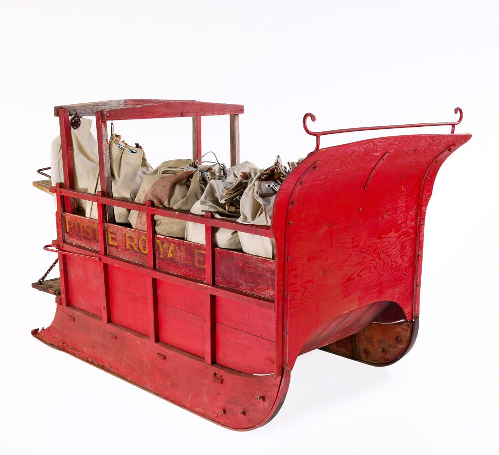Traineau servant au transport du courrier