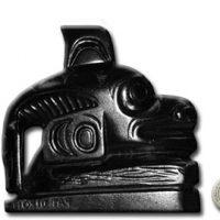 "Argillite - Totem of Killer Whale - 3"" VII B 1920"
