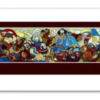 "Daphne Odjig Print ""The Indian in Transition""::  Gravure Daphne Odjig"