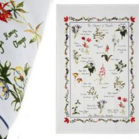 Canadian Wildflower Tea Towel:: Serviette