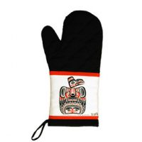 Bill Reid Children of the Raven Oven Mitt:: Mitaine de four avec l'