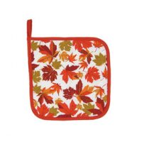 Autumn Maple Leaf Potholder:: Sous-plat en tissu avec des feuilles d'