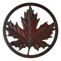 Mini Maple Leaf Trivet in Recycled Fiber Glass:: Mini sous-plat feuille d'