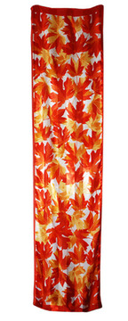 Autumn Maple Leaf on Polysatin Scarf::