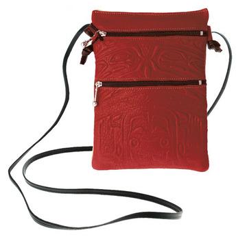 Passport Pouch Bear Box Red:: Pochette de passeport bo