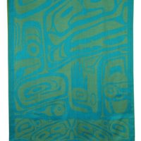 Turquoise Bear Box Shawl by Clifton Fred::
