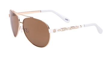 Ladies Aviator Sunglasses, Featuring a Thunderbird design by Corrine Hunt:: Lunette de soleil style pilote Victoria avec un Thunderbird, par l'artiste Corrine Hunt