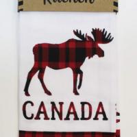 Plaid Moose Tea Towel
