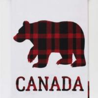 Plaid Bear Tea Towel