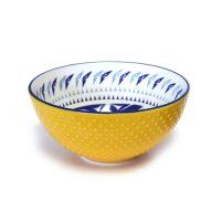 Medium Porcelain Art Bowl - Hummingbird by Maynard Johnny Jr