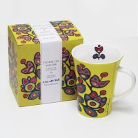 Norval Morrisseau Mug - Floral on Yellow