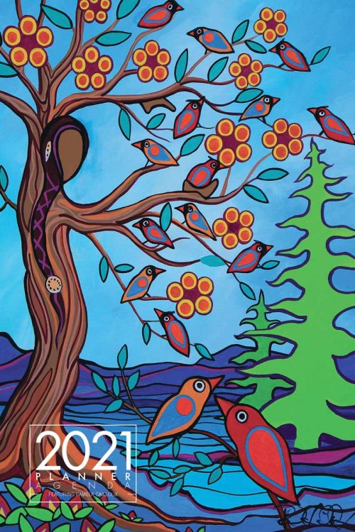 2021 Weekly Planner - Mother Earth with Her Birds by Pam Cailloux