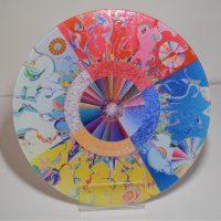 Grand dessous de plat en verre de l'Étoile du matin d'Alex Janvier
