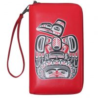 Bill Reid Red Travel Wallet - Children of the Raven