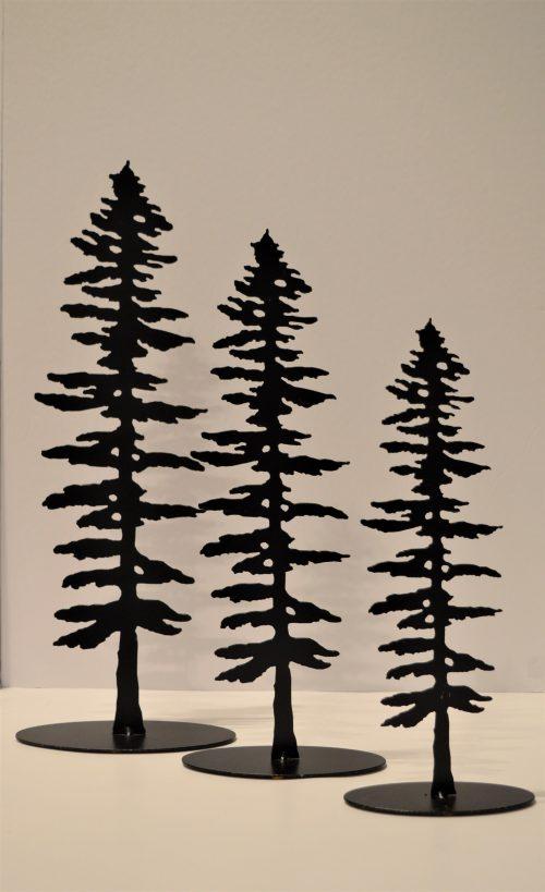 Metal Spruce Sculptures