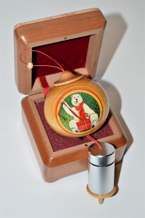 Wooden Christmas Ornaments - Polar bear