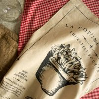 Vintage Poutine Tea Towel