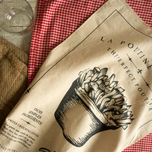 Vintage Poutine Tea Towel