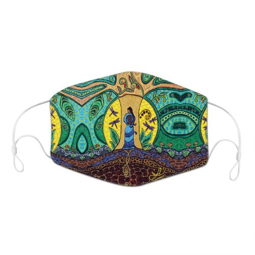 Reusable Face Mask - Strong Earth Women by Leah Dorion