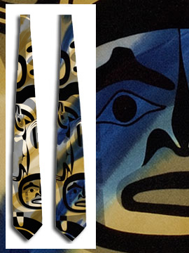 James Hart Haida Tie:: Cravate ha