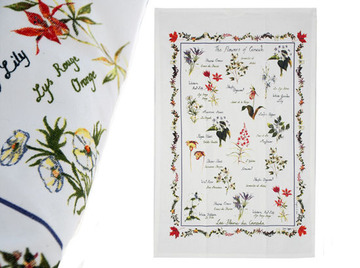 Canadian Wildflower Tea Towel:: Serviette