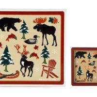 Canadian Heritage Laminated Coaster:: Ensemble de sous-verres H
