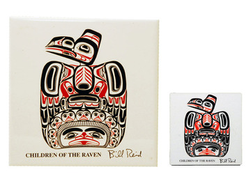Bill Reid Children of the Raven Trivet:: Sous-plat en c