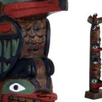 Totem Eagle Whale Raven Bear 13'':: Totem Aigle, Baleine, corbeau et ours 13''