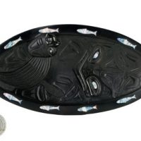 Haida Plate Octopus design:: Assiette Ha