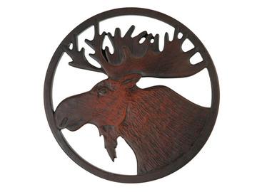 Moose Trivet in Recycled Fiber Glass:: Sous-plat orignal en fibre de verre recycl