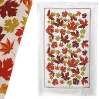 Autumn Maple Leaf Tea Towel:: Serviette