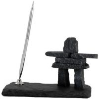 Pen Stand on Slate Base:: Porte-stylo sur base