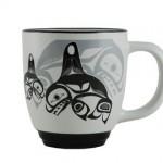 Bill Helin Many Whale Halo Mug:: Tasse en c
